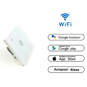 Panel Lampu Touch WiFi Smart Home Voice Control - White - 4
