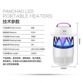 Ponchao Pembasmi Nyamuk UV LED 360 - PC-007 - White - 5