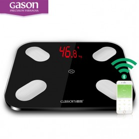 Timbangan Badan Digital - GASON Timbangan Berat Badan Digital Smart Scale 180KG - S4 - Black