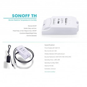 Sonoff Wifi Smart Switch Home Automation Kit - TH16 - White - 3