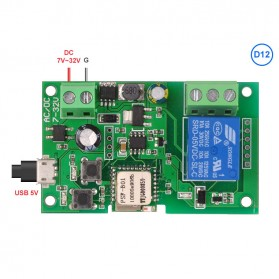 Sonoff Smart Wireless Relay Module Home Automation 12V - Green - 4
