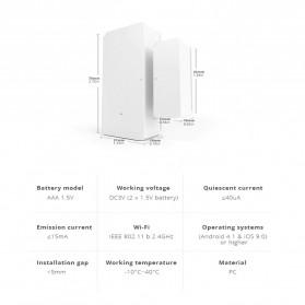 Sonoff Smart Alarm Sensor Pintu Jendela Rumah WiFi - DW2 - White - 2