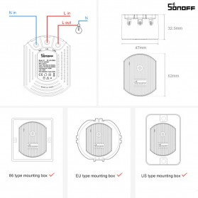 Sonoff Smart Dimmer WiFi Switch Remote Voice Control - D1 - White - 10