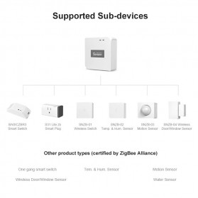 SONOFF Smart Temperature and Humidity Sensor Real Time for ZigBee Bridge - SNZB-02 - White - 6