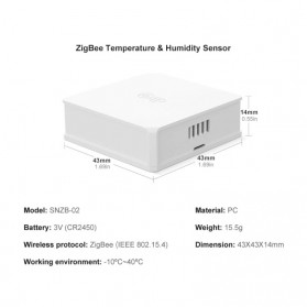 SONOFF Smart Temperature and Humidity Sensor Real Time for ZigBee Bridge - SNZB-02 - White - 7