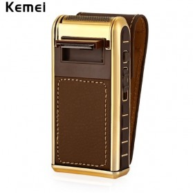 Kemei Alat Cukur Elektrik Leather Wrapped Electric Shaver - KM-5500 - Golden