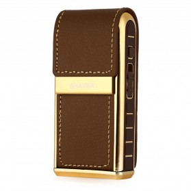 Kemei Alat Cukur Elektrik Leather Wrapped Electric Shaver - KM-5500 - Golden - 4
