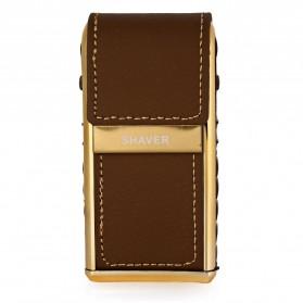 Kemei Alat Cukur Elektrik Leather Wrapped Electric Shaver - KM-5500 - Golden - 5