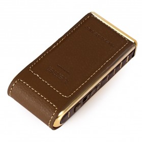 Kemei Alat Cukur Elektrik Leather Wrapped Electric Shaver - KM-5500 - Golden - 8