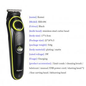 Kemei Alat Cukur Elektrik 5 in 1 Hair Trimmer Shaver - KM-696 - 7