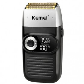 Kemei Alat Cukur Elektrik Rechargeable Cordless Shaver for Men - KM-2026 - Black