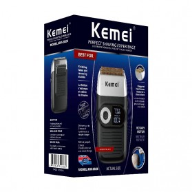 Kemei Alat Cukur Elektrik Rechargeable Cordless Shaver for Men - KM-2026 - Black - 3