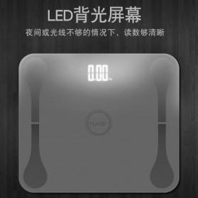 Lungpai Timbangan Badan Elektronik Bluetooth Body Fat 180kg with Temperature - 6011 - White - 5