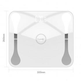 Lungpai Timbangan Badan Elektronik Bluetooth Body Fat 180kg with Temperature - 6011 - White - 6