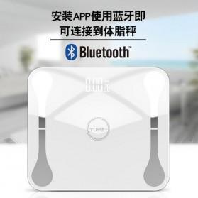 Lungpai Timbangan Badan Elektronik Bluetooth Body Fat 180kg with Temperature - 6011 - White - 7