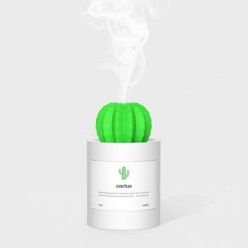 3Life Air Humidifier Pelembab Udara Aromatherapy Oil Diffuser 280ml - Cactus - White
