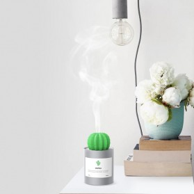 3Life Air Humidifier Pelembab Udara Aromatherapy Oil Diffuser 280ml - Cactus - White - 4