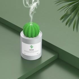 3Life Air Humidifier Pelembab Udara Aromatherapy Oil Diffuser 280ml - Cactus - White - 8