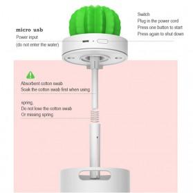 3Life Air Humidifier Pelembab Udara Aromatherapy Oil Diffuser 280ml - Cactus - White - 9