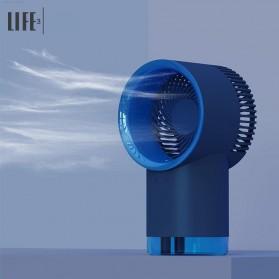 3Life Kipas Mini Cooling Fan Humidifier Mist USB Wired Version  - 365 - Blue