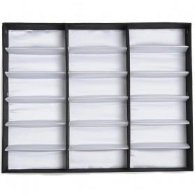 Kotak Display Kacamata Eyeglasses Sunglasses Box 18 Slot - PU18 - Black - 3