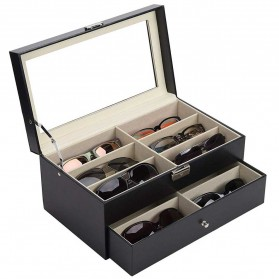 JOCESTYLE Kotak Display Kacamata Eyeglasses Sunglasses Box 12 Slot - CO-Z - Black - 1