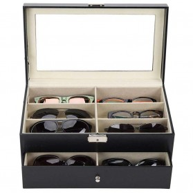 JOCESTYLE Kotak Display Kacamata Eyeglasses Sunglasses Box 12 Slot - CO-Z - Black - 2