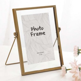 Bingkai Foto Nordic Minimalist Metal Photo Frame 6 Inch - Golden