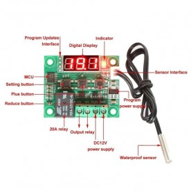 Digital Temperature Control Thermostat Microcomputer 12V - W1209