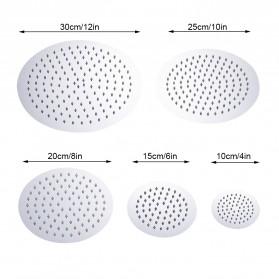 SHARON Kepala Shower Mandi Rainfall Stainless Steel Round Shower 4 Inch - S30470054 - Silver - 2