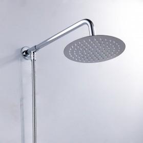 SHARON Kepala Shower Mandi Rainfall Stainless Steel Round Shower 4 Inch - S30470054 - Silver - 4