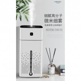 Taffware Air Humidifier Aromatherapy RGB Night Light 1000ml - HUMI KS-600 - White - 5
