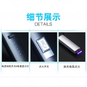 LCFUN Korek Elektrik Plasma Pulse Lighter - JL887 - Black - 6