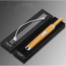 LCFUN Korek Elektrik Plasma Pulse Lighter - JL887 - Black - 10