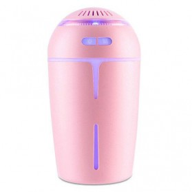 Taffware Ultrasonic Air Humidifier 300ml with RGB Light LED Night - HUMI OFAN-511 - Pink - 1