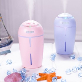 Taffware Ultrasonic Air Humidifier 300ml with RGB Light LED Night - HUMI OFAN-511 - Pink - 3