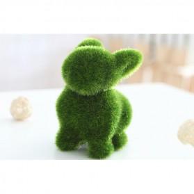 Ornamen Pajangan Rumput Model Hewan - Rabbit - Green