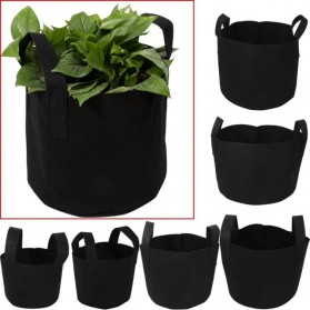 Pot Tanaman Kain Minimalis Jumbo Breathable Plants Growing Aeration Bag - GL7 - Black