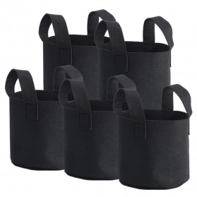 Pot Tanaman Kain Minimalis Jumbo Breathable Plants Growing Aeration Bag - GL7 - Black - 3
