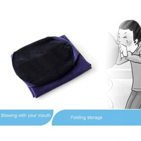 TOUGHAGE Bantal Guling Inflatable Erotic Pillow Sex Support with Vibrator Holder - PF3102 - Navy Blue - 8
