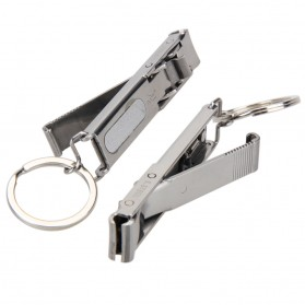 Gunting Kuku Extra Strong Nail Clipper Stainless Steel - YEDC - Silver - 4