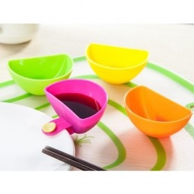 VKTECH Mangkok Tempat Cocol Sambal Saos Clip Ketchup Dip Bowl 4PCS - Multi-Color