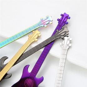 PAWACA Sendok Teh Stainless Steel Lucu Model Gitar - RR-09 - Black - 6