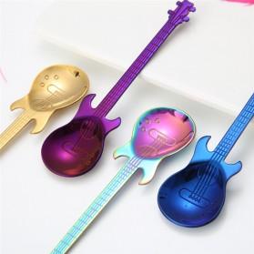 PAWACA Sendok Teh Stainless Steel Lucu Model Gitar - RR-09 - Black - 7