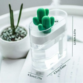 03CACTUS Ultrasonic Air Humidifier Desain Unik Bentuk Kaktus - H319 - Transparent - 2