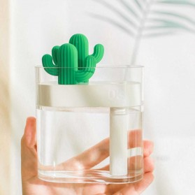 03CACTUS Ultrasonic Air Humidifier Desain Unik Bentuk Kaktus - H319 - Transparent - 3
