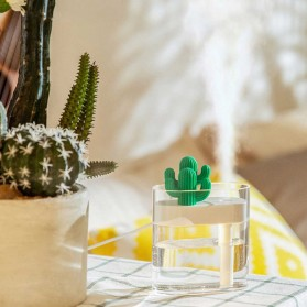 03CACTUS Ultrasonic Air Humidifier Desain Unik Bentuk Kaktus - H319 - Transparent - 5