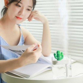 03CACTUS Ultrasonic Air Humidifier Desain Unik Bentuk Kaktus - H319 - Transparent - 8