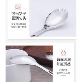TOMSHOO Artisan Sendok Garpu Bottle Opener Titanium - H3107 - Silver - 5