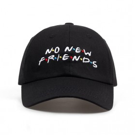 Topi Baseball No New Friend Hip Hop Sport Fashion Hat - Q455040 - Black